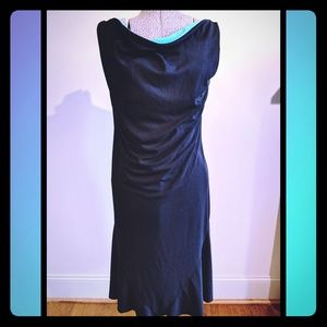 Black Dress with turquoise inside